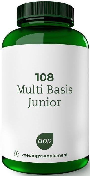 108 Multi Basis Junior 180 kauwtabletten AOV