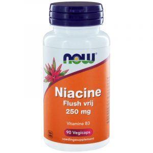 Niacine Flush Vrij 250 mg 90 capsules Now