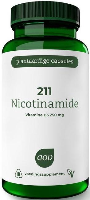 211 Nicotinamide Vitamine B3 250 mg 100 capsules - AOV