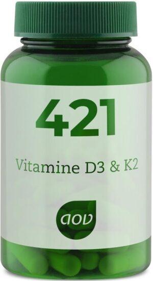 421 Vitamine D3 en K2 60 capsules - AOV