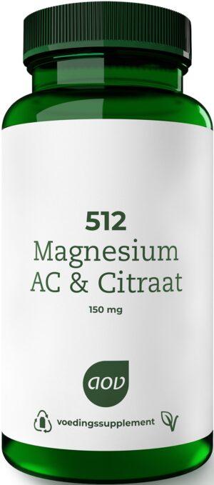512 Magnesium AC en Citraat 60 capsules - AOV