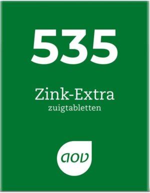 535 Zink Extra 30 zuigtabletten Meeneemverpakking - AOV