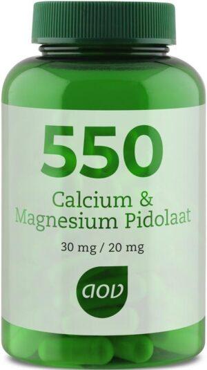 550 Calcium en Magnesium Pidolaat 90 capsules - AOV