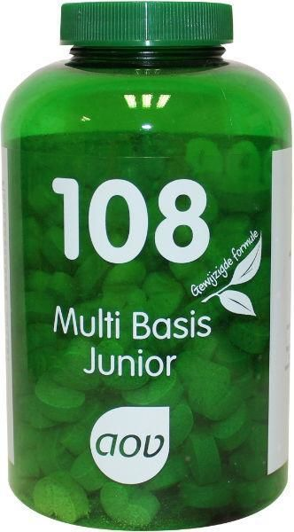108 Multi Basis Junior 180 kauwtabletten AOV