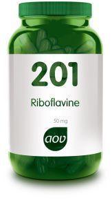 201 Riboflavine 50 mg 100 capsules AOV