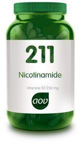 211 Nicotinamide Vitamine B3 250 mg 100 capsules AOV