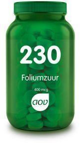230 Foliumzuur 400 mcg 100 tabletten AOV