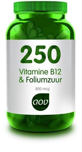 250 Vitamine B12 en Foliumzuur 60 capsules AOV
