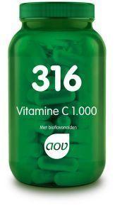 316 Vitamine C 1000 mg en Bioflavonoiden 180 tabletten AOV