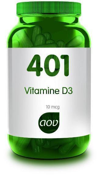 401 Vitamine D3 10 mcg 60 capsules AOV