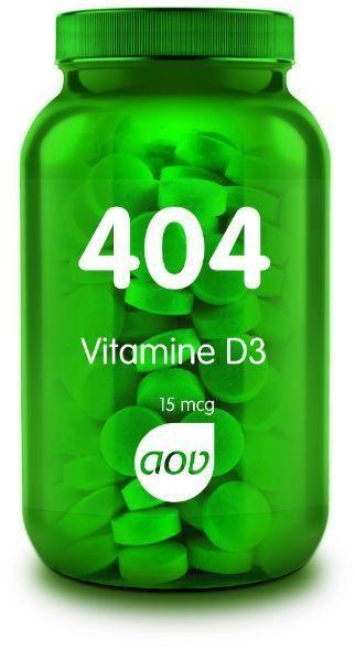 404 Vitamine D3 15 mcg 60 tabletten AOV