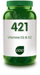 421 Vitamine D3 en K2 60 capsules AOV