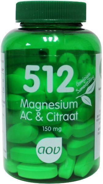 512 Magnesium AC en Citraat 60 tabletten AOV