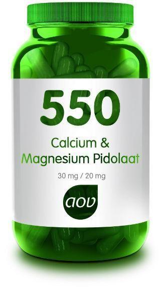 550 Calcium en Magnesium Pidolaat 90 capsules AOV