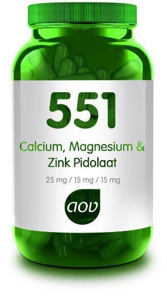 551 Calcium Magnesium Zink Pidolaat 90 capsules AOV