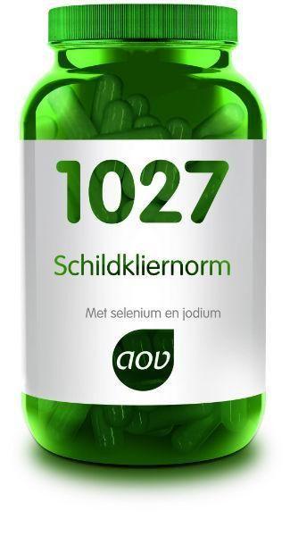 1027 Schildkliernorm met Selenium en Jodium 60 capsules AOV