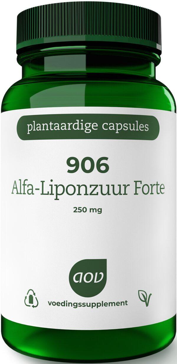 906 Alfa Liponzuur Forte 250 mg 60 capsules - AOV