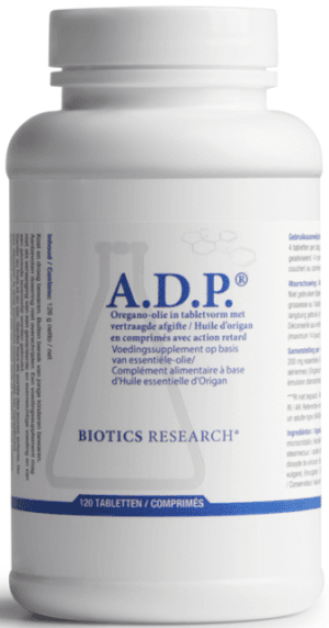 A.D.P. Oregano Olie 120 tabletten Biotics