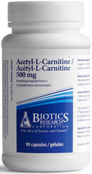 Acetyl L Carnitine 500 mg 90 capsules Biotics