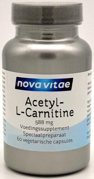 Acetyl-L-Carnitine 588 mg 60 capsules Nova Vitae