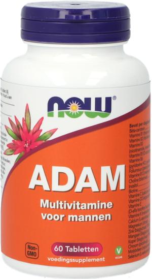 Adam Multivitamine voor Mannen 60 tabletten - Now