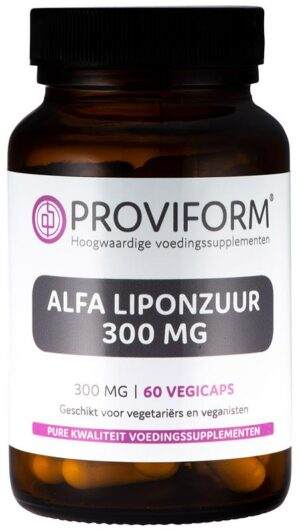 Alfa Liponzuur 300 mg 60 capsules - Proviform