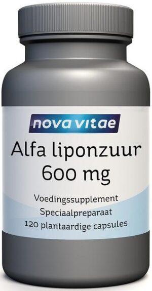 Alfa Liponzuur 600 mg 120 capsules Nova Vitae