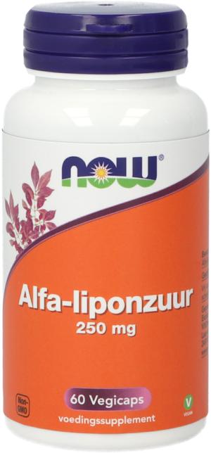 Alfa-liponzuur 250 mg 60 capsules - Now