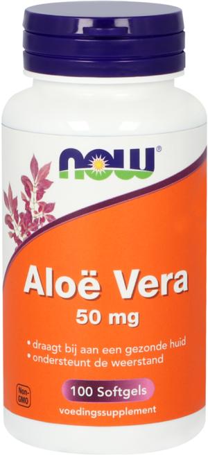 Aloë Vera 50 mg 100 softgels - Now