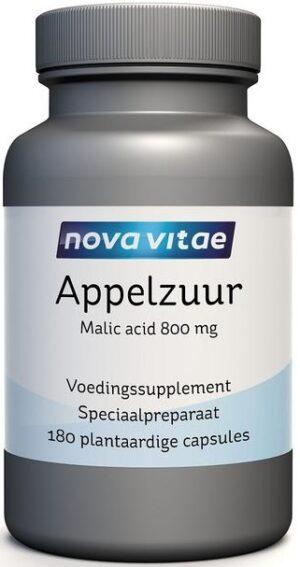Appelzuur Malic Acid 800 mg 100 capsules - Nova Vitae