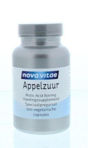 Appelzuur Malic Acid 800 mg 100 capsules Nova Vitae