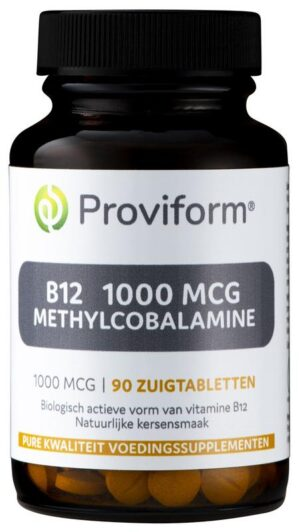 B12 1000 mcg Methylcobalamine 90 tabletten - Proviform