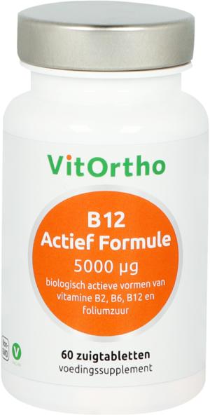 B12 Actief Formule 5000 mcg 60 tabletten - VitOrtho