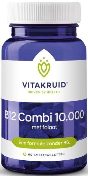 B12 Combi 10.000 met Folaat 60 tabletten Vitakruid