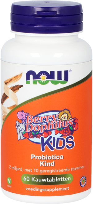 Berry Dophilus Kids Probiotica 60 kauwtabletten - Now
