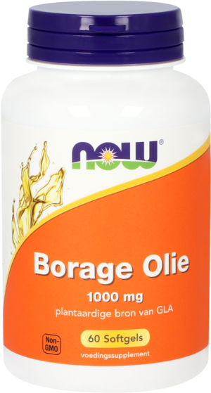 Borage Olie 1000 mg 60 softgels - Now