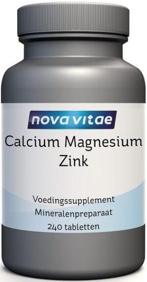 Calcium Magnesium Zink 240 tabletten - Nova Vitae