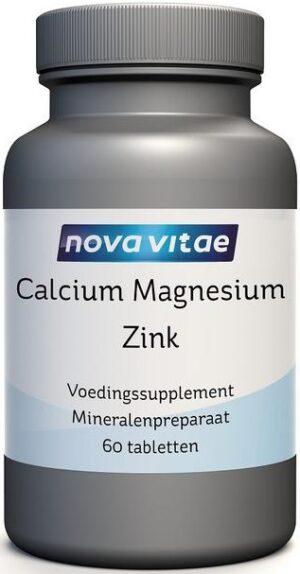 Calcium Magnesium Zink 60 tabletten - Nova Vitae