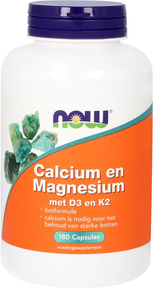 Calcium en Magnesium met D3 en K2 180 capsules - Now