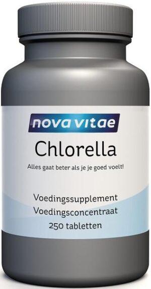 Chlorella 500 mg 250 tabletten - Nova Vitae