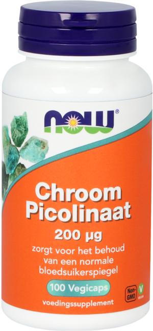 Chroom Picolinaat 200 mcg 100 capsules Now