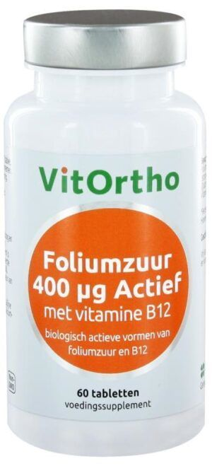 Foliumzuur 400 mcg Actief 60 tabletten Vitortho