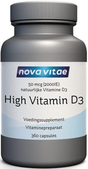 High Vitamine D3 2000 IU 50 mcg 360 capsules - Nova Vitae