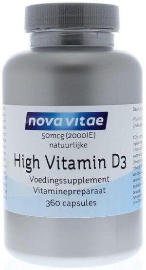 High Vitamine D3 2000 IU 50 mcg 360 capsules Nova Vitae
