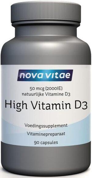 High Vitamine D3 2000 IU 50 mcg 90 capsules - Nova Vitae