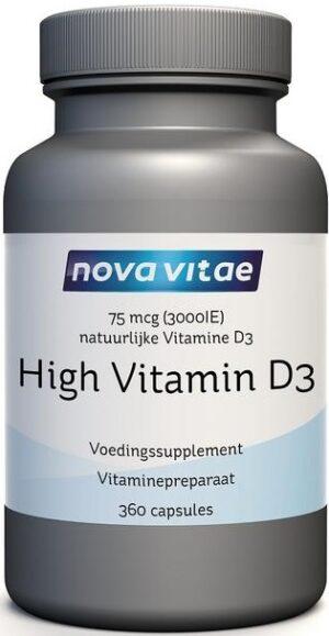 High Vitamine D3 75 mcg 3000 IU 360 capsules - Nova Vitae