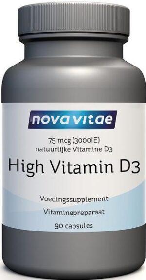 High Vitamine D3 75 mcg 3000 IU 90 capsules Nova Vitae