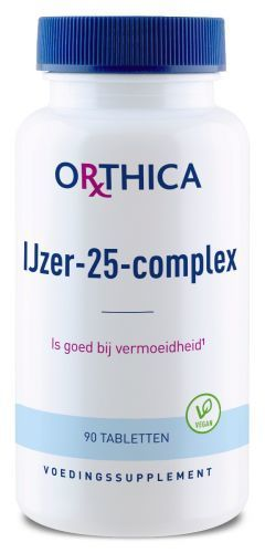 IJzer 25 Complex 90 tabletten Orthica