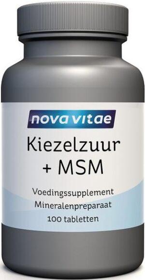 Kiezelzuur en MSM 100 tabletten - Nova Vitae