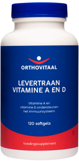 Levertraan Vitamine A en D 120 softgels - Orthovitaal